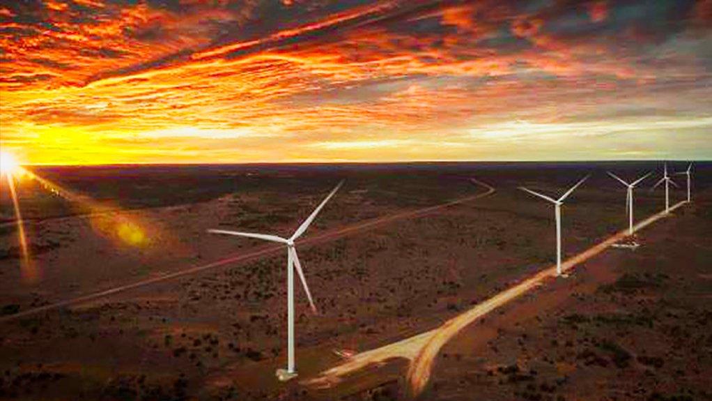 Wind turbines at Gold Fields' Agnew gold mine in Western Australia.