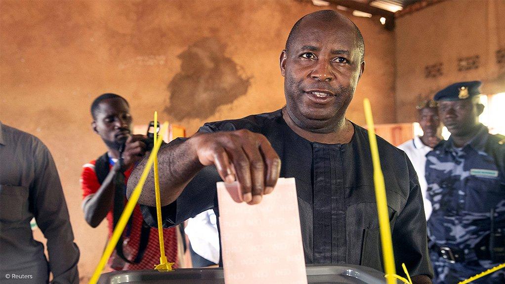 Burundian president-elect Evariste Ndayishimiye