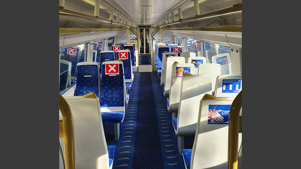 SEATING ARRANGMENTS Seating inside the Gautrain has been demarcated to ensure physical distancing of commuters on board