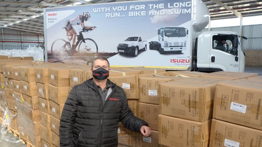Isuzu provides logistics assistance to business' collaborative healthcare support initiative