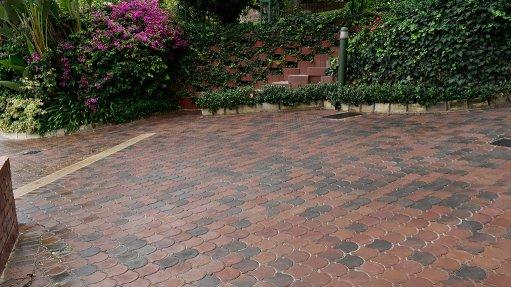 Style conformity with Technicrete's Conleaf pavers