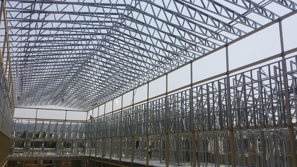 SWIFT AND STURDY The speed with which light steel frame structures can be erected makes them eminently suitable for the building of emergency structures