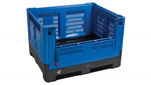 Foldable plastic bins cut transport costs and reduce carbon footprint