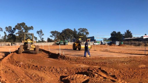 The construction site along the M2 Johannesburg highway, in Kensington