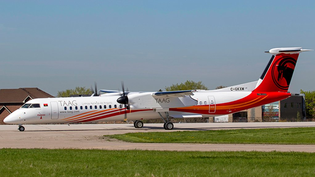 TAAG's first DHC Dash 8-400 airliner