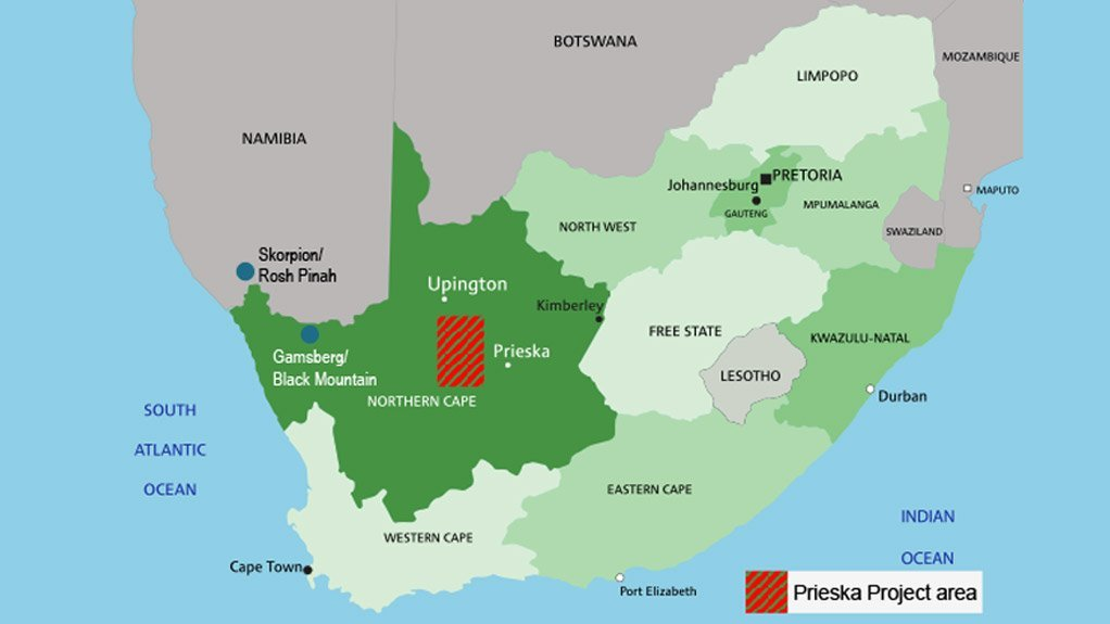 Orion is developing the Prieska copper-and-zinc project in the Northern Cape.