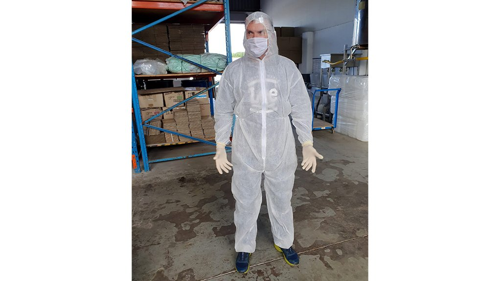 COVERED UP Disposable coveralls provide the same degree of protection as standard washable coveralls without the need to decontaminate them after use
