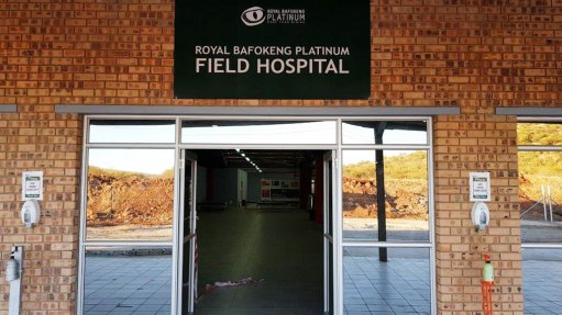 RBPlat opens a 200-bed field hospital in Rustenburg, to support government resources