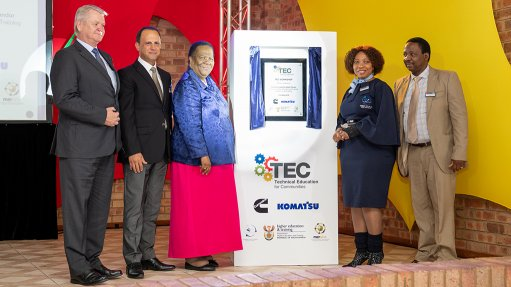 HIGHER EDUCATION SUPPORT  The Technical Education for Communities programme at the Sedibeng Technical and Vocational Education and Training College, in Gauteng is supported by the Department of Higher Education and Training