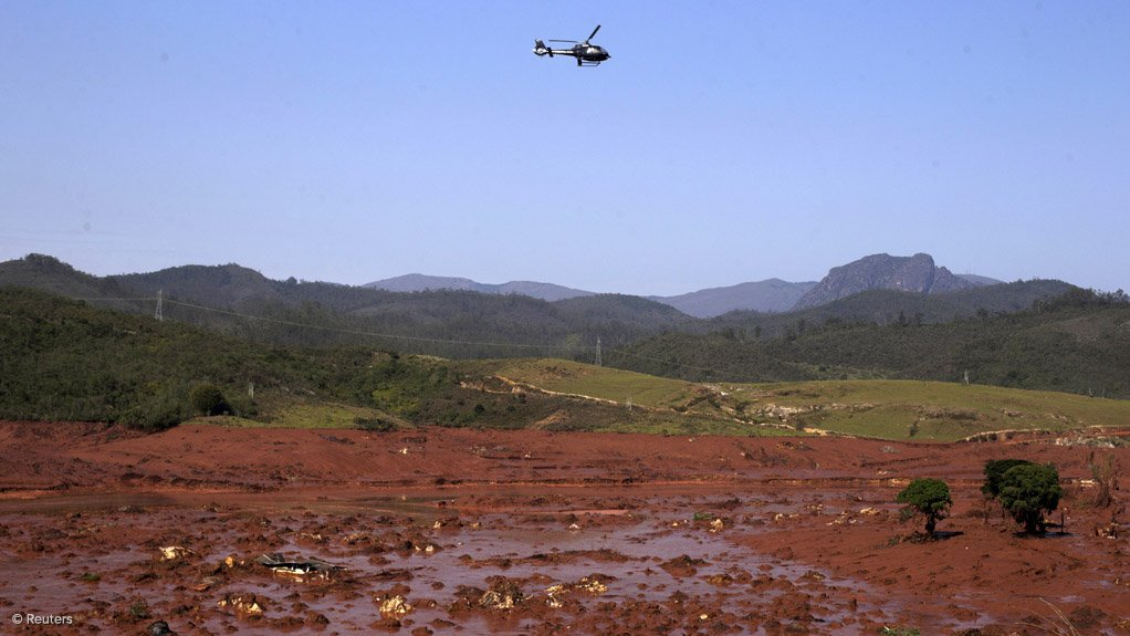 IN THE SPOTLIGHT  Devastation left in the wake of a tailings dam burst owned by Vale and BHP Billiton in Mariana, Brazil