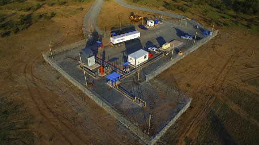 The compression station at Renergen's Virginia gas project, in the Free State.