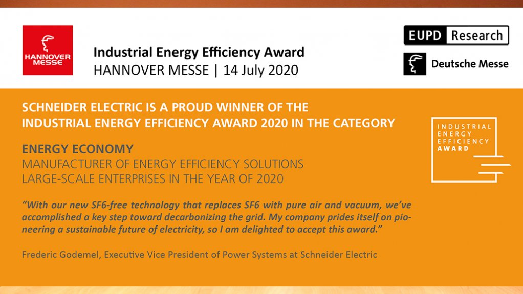 Schneider Electric Wins Industrial Energy Efficiency Award at Hannover Messe for SF6-Free Medium Voltage Switchgear