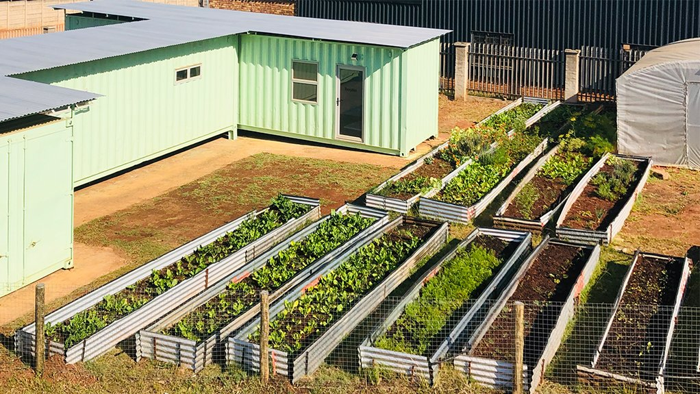 ACCESS TO INFRASTRUCTURE Small-scale farming can be encouraged to provide produce for the containerised factory, which comes prefitted with dryer units