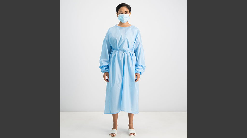 The localised isolation gown