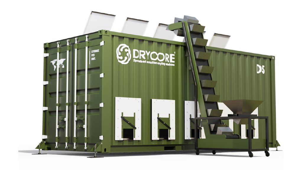 AGRICULTURAL ASSET The modular mobile cool-air-drying system optimised drying time and low energy costs among other advantages