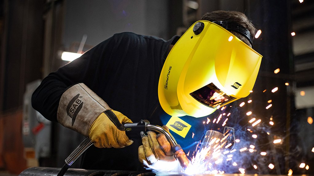 AESTHETICALLY EASING The new welding helmet offered by ESAB Welding & Cutting enhances the clarity and colour seen by the welder, allowing for better welds