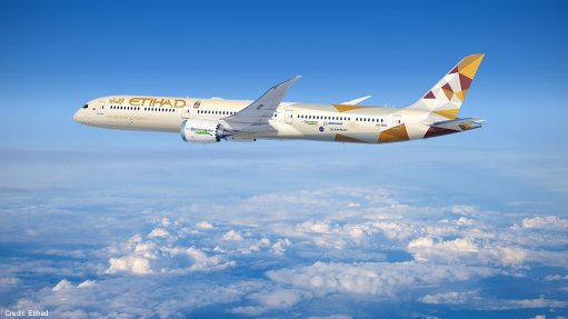 Etihad's Boeing 787-10 airliner being employed for the tests.