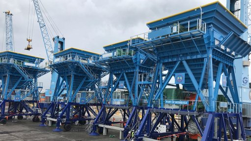 BREATHING EASY The Samson Eco Hoppers installed at Kenya's Port of Mombasa have significantly improved port facilities and minimised the environmental impact of bulk handling operations at the harbour