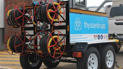 thyssenkrupp locally engineers and manufactures mobile disinfectant trailer to fight COVID-19