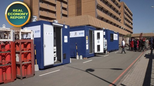 Locally-produced fuel cells being used by army field hospital