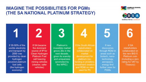 Platinum has potential to be three-times-bigger $35bn-a-year industry – Minerals Council