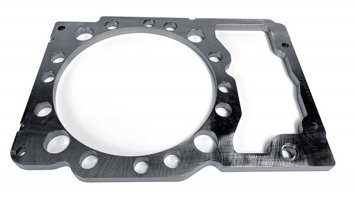 Steel spacer plate for CAT 3500 engines, now available in South Africa