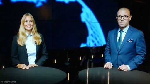 Sandvik's Nina Axman and Jens Holmberg.