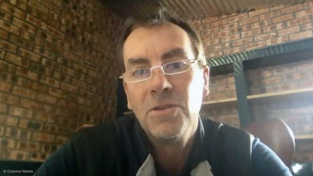 South African Diamond Producers Organisation deputy chairperson Lyndon De Meillon.