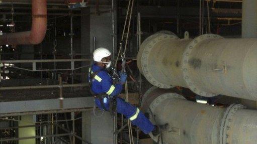 Skyriders undertakes UT wall thickness testing at Tutuka