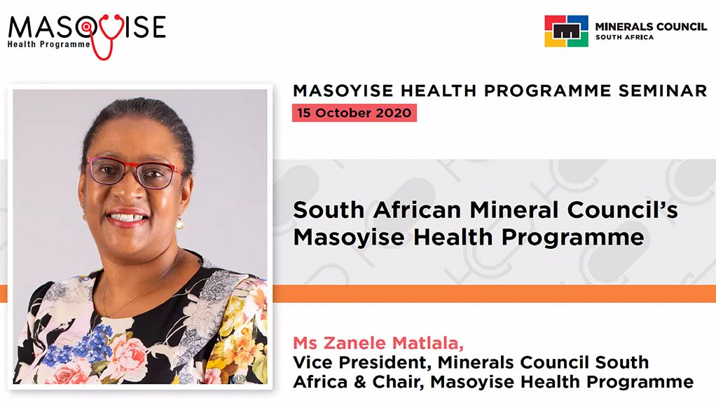 Minerals Council South Africa VP and Masoyise Health Programme chairperson Zanele Matlala