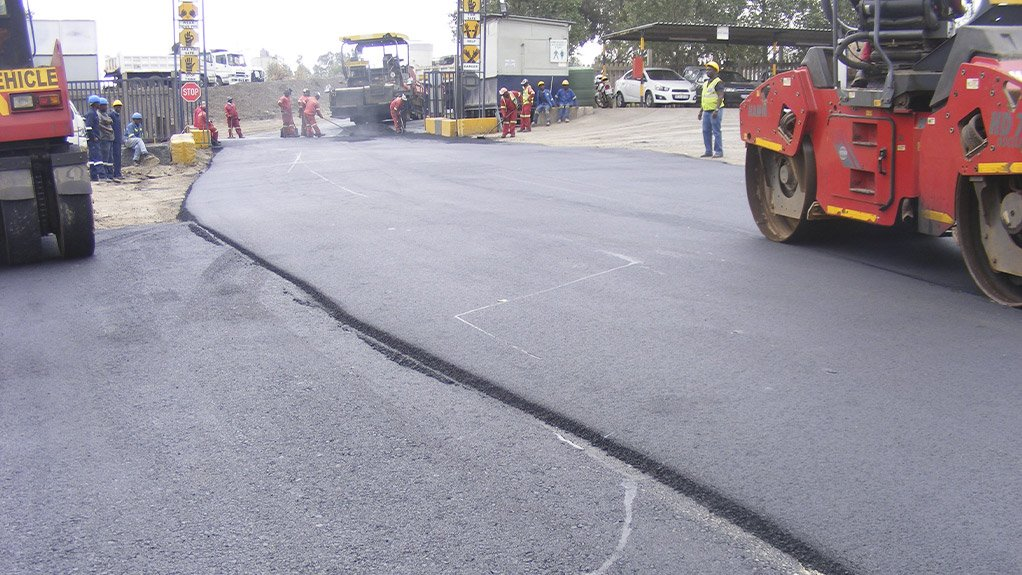 Construction of the road using the new materials