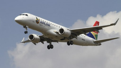 An Embraer E190 of South African airline Airlink
