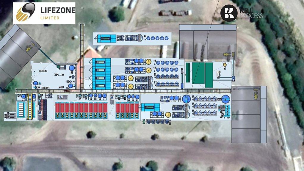 Layout of the Kell plant proposed for Sedibelo's Pilanesberg platinum mine.