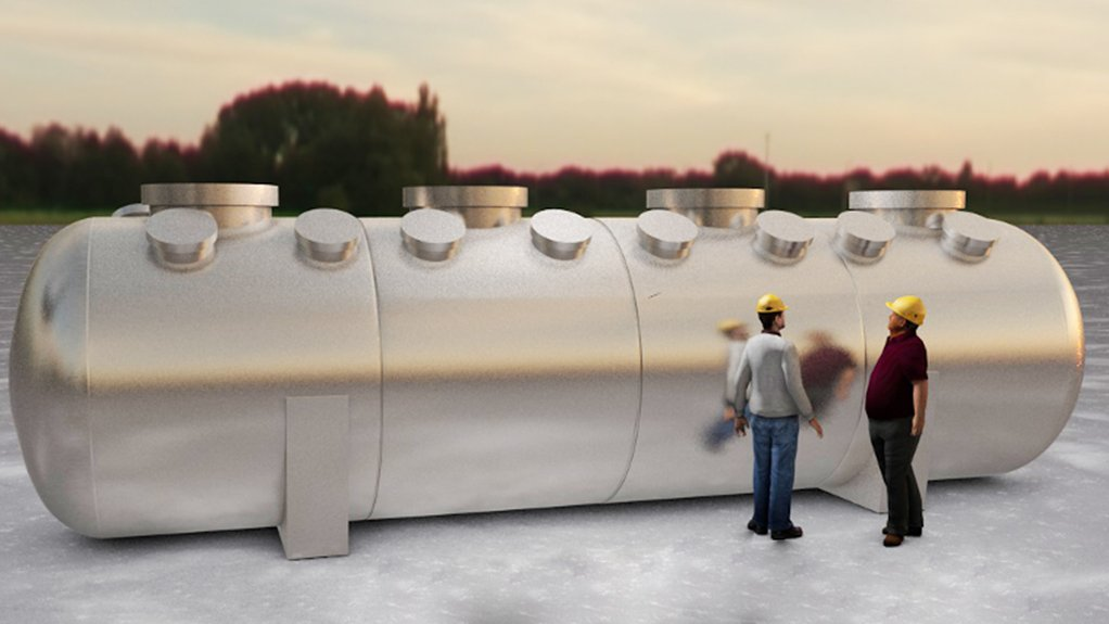 Illustration of an autoclave that will be used by the Kell process.