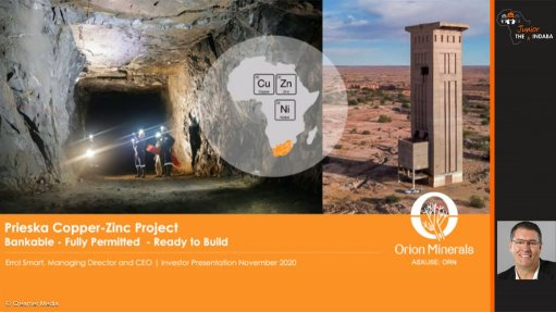 Clean, green copper of Northern Cape will be  produced at nigh zero cost – Orion