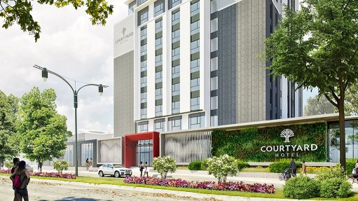 Courtyard Hotel Waterfall City nearing completion