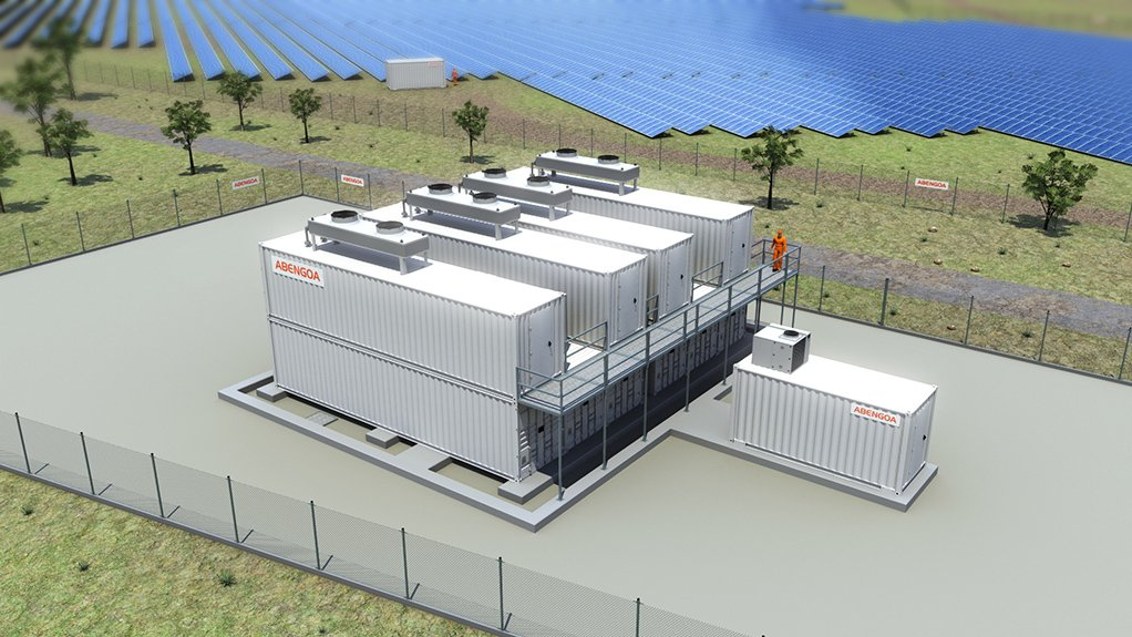 Artist impression of Vametco's developing solar and storage project