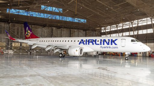 Local airline Airlink displays its new livery for the first time
