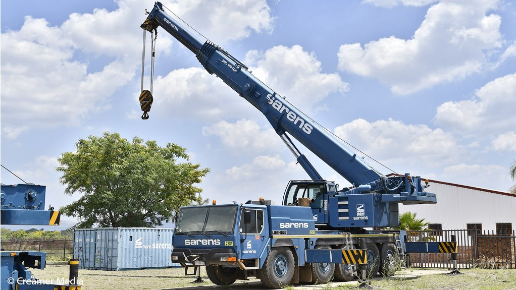A 100 t mobile crane at Sarens Siba's Brits depot