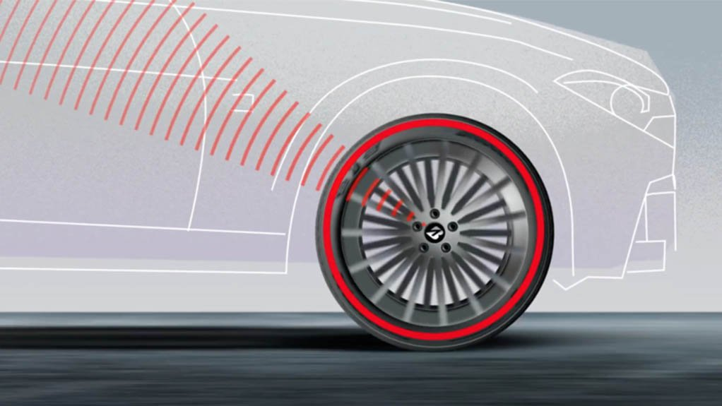 DAMAGE CONTROL The Tyre Damage Monitoring System uses algorithms to detect and predict failures before they become catastrophic