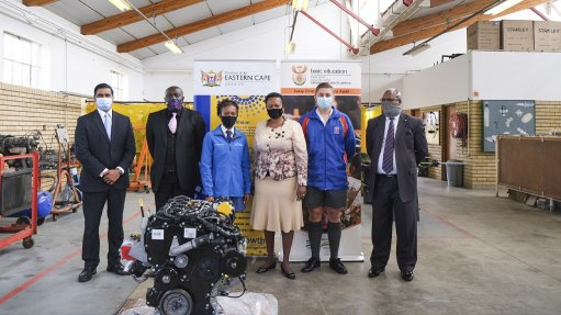 Ford and Department of Basic Education hand over first donated engine to Port Elizabeth Technical High School