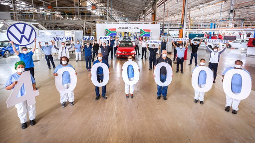 Volkswagen celebrates assembly of four-million vehicles at Uitenhage