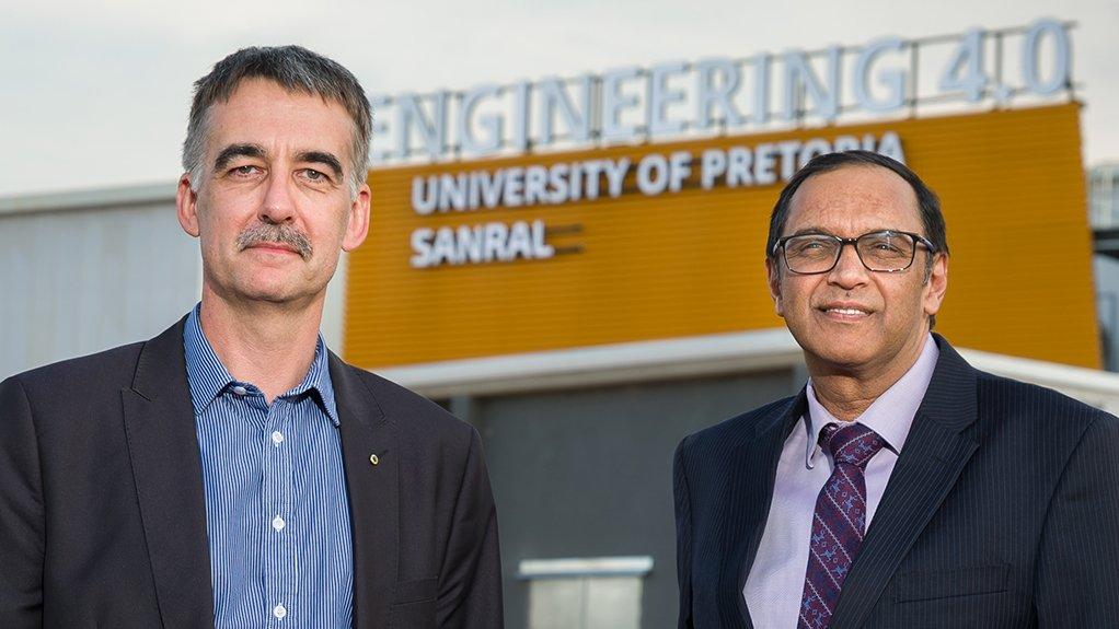 UP Department of Civil Engineering head Professor Wynand Steyn and UP EBIT dean Professor Sunil Maharaj.