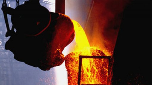 Copper smelting.