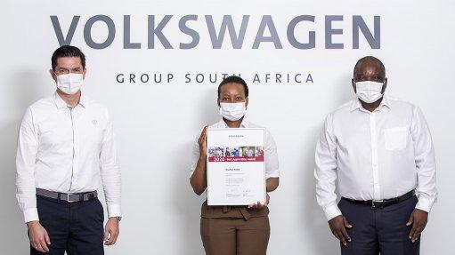 VWSA MD Dr Robert Cisek, Rachel Kobo and Thabo Nkoane