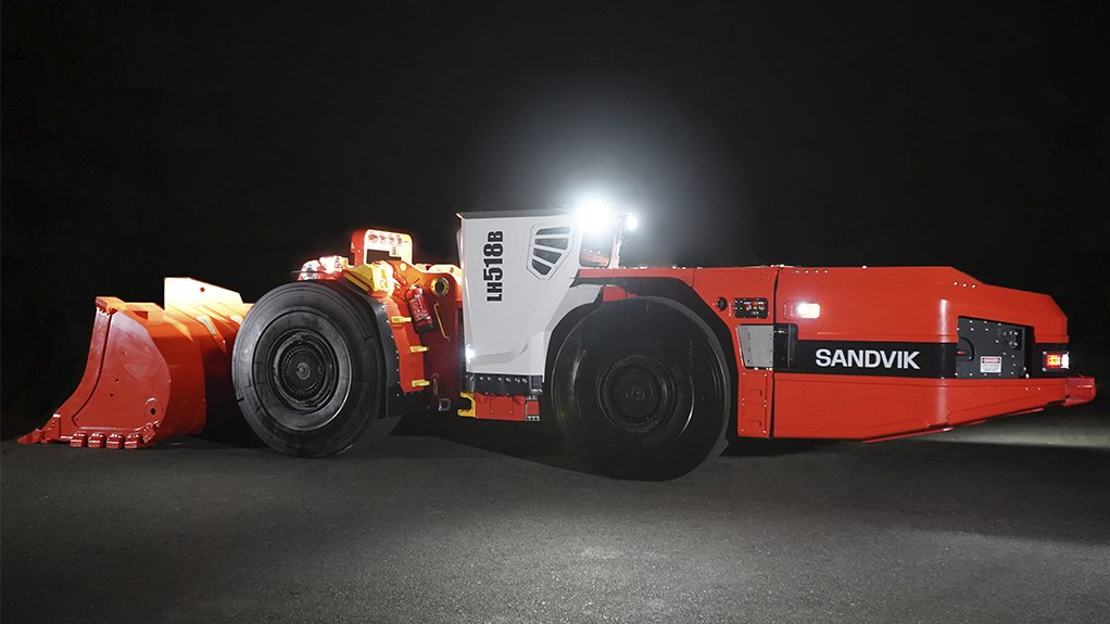 ELECTRIC SOLUTIONS The LH518B battery loader from Sandvik has been designed, from the ground-up, entirely around the loader's Artisan battery system and electric driveline