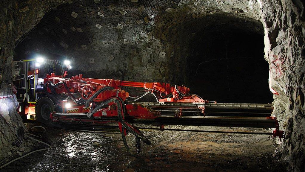 UNDERGROUND DEVELOPMENT More than 8 500 m of underground development has taken place, with mining underway