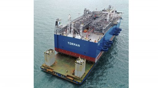 Ghana's floating regasification unit arrives in Tema port