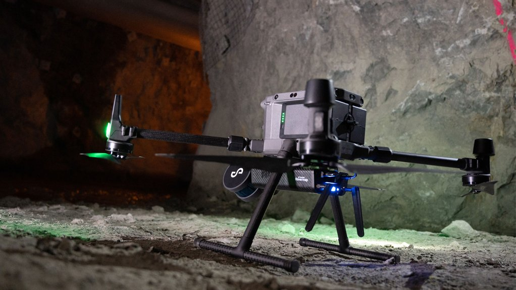 A Hovermap Lidar payload-equipped drone of Dwyka Mining Services