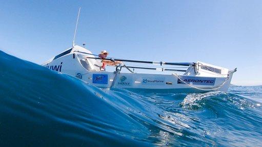 Zirk Botha nears St Helena island on day 24 of rowing voyage